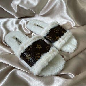 Monogram Trendy Fluffy Slippers